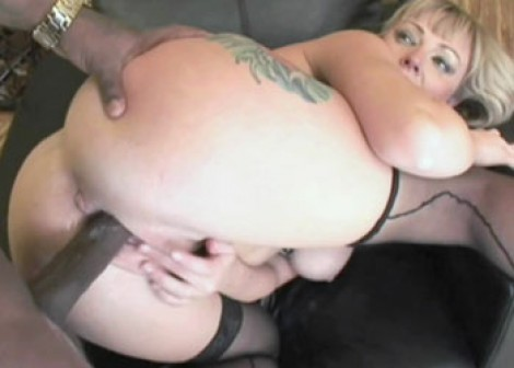 Busty Adrianna gets nailed in the ass